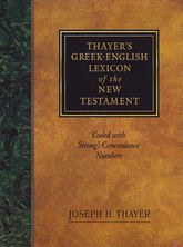 List thayers greek english lexicon of the new testament